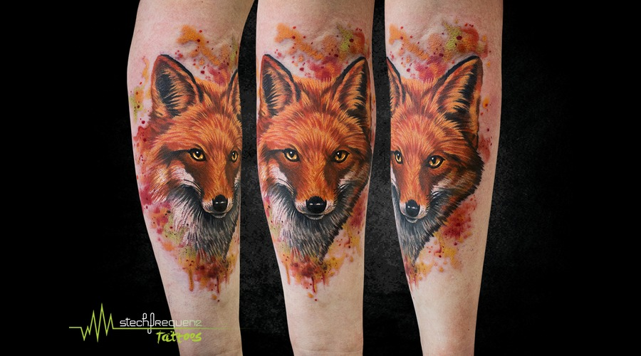 Fox  Watercolor  Realistic Color Arm