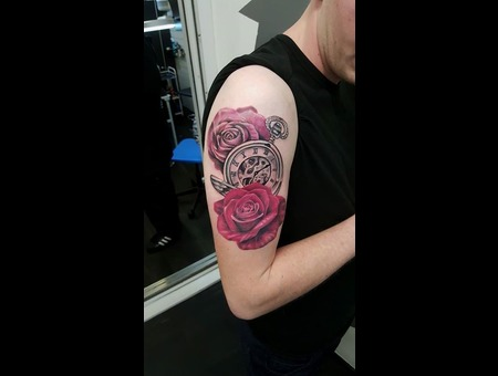 Rose Pocketwatch Color Arm