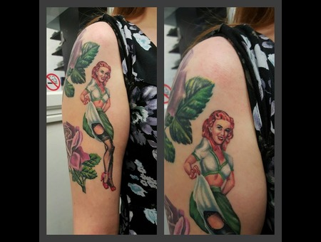 Healed Pin Up Color Arm