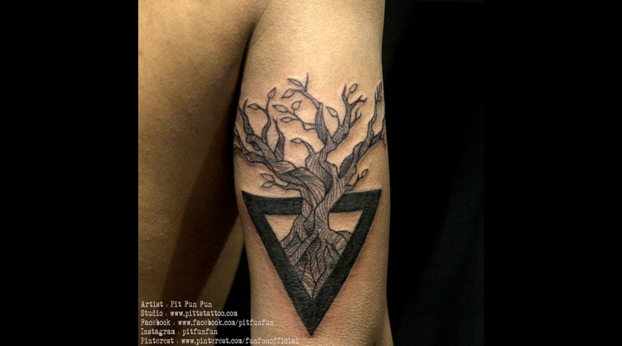 Tree Of Life  Black Grey Arm