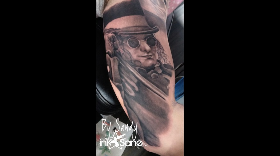 Gentlemen  Hat Black Grey Arm