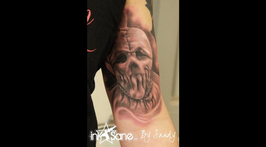 Horror  Mask   Black Grey Arm