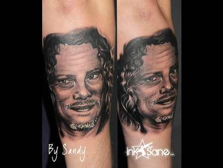 Kirk  Hamett  James  Hetfield  Metallica  Portrait Black Grey Forearm