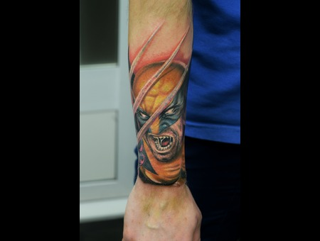 Wolverine Comic Color Forearm