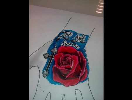 Rose Tattoo Color Design Color