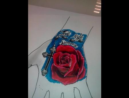 Rose Tattoo Color Design Color