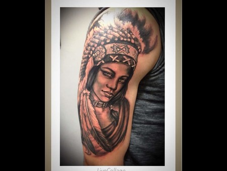 #Realisticportrait#Indiangirltattoo#Ledjaqereshnikutattooart#Blackandgrey# Black Grey Arm