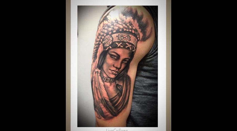 #Realisticportrait#Indiangirltattoo#Ledjaqereshnikutattooart#Blackandgrey# Black Grey Arm