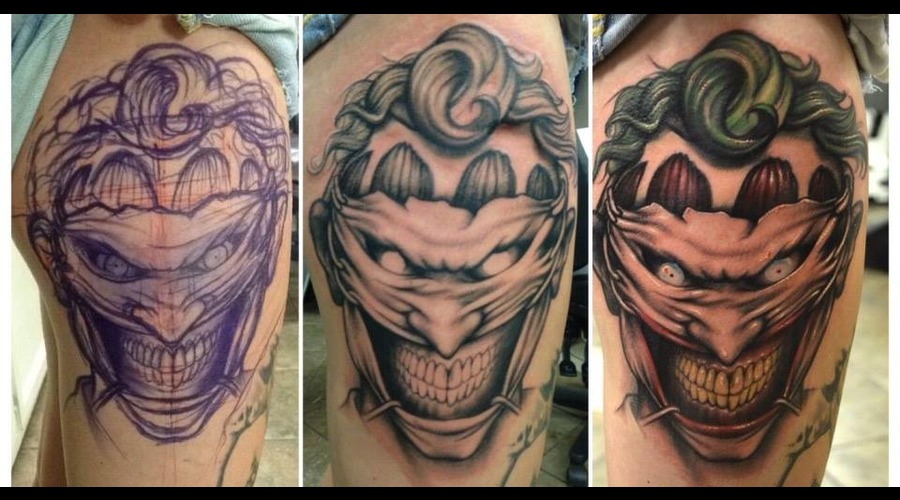 Joker  Freehand  Comic  Batman Color Thigh
