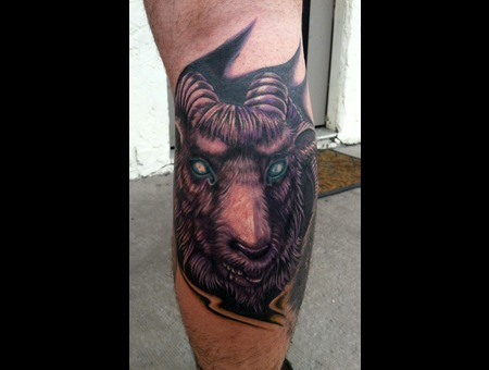 Goat Tattoo Color
