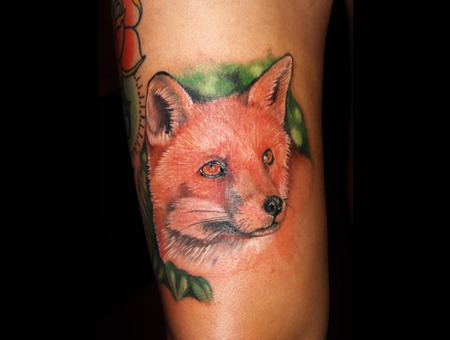Fox  Fox Portrait  Fox Tattoo Color