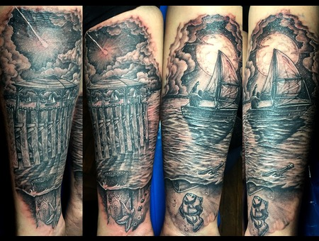 The Sound Black Grey Forearm