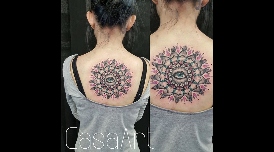 Mandala  Dot Work Color Back