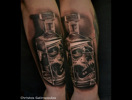 Death In A Bottle! Black Grey