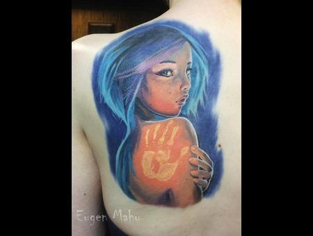 Tattoo  Realistic  Art Color Shoulder
