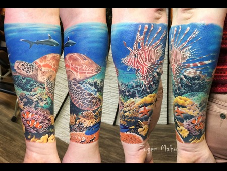 Tattoo  Realistic  Art  Underwaterworld Color Forearm
