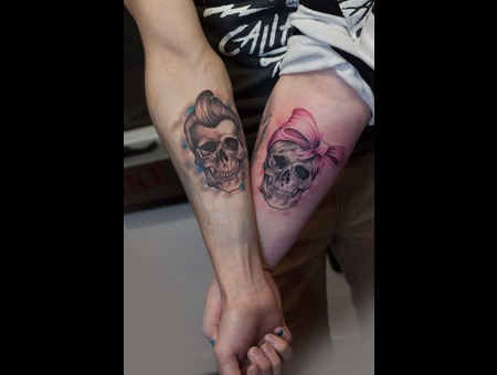 Partner Skull Small Friend Love Color Arm