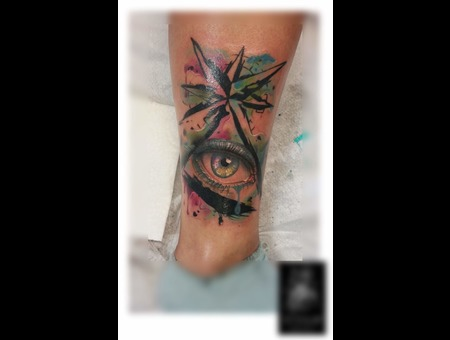 Cover Aquarell Eye Auge Color Lower Leg