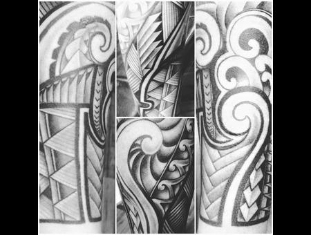 #Polynesiantribaltattoo #Freehandtattoo #Tattoo #Reno #Renotattoo #Hashtag  Black Grey Forearm