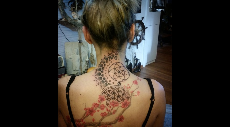 Mandala Back Sleeve In Progress Black Grey