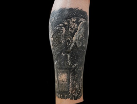 Crow (Cover Up) Black Grey Lower Leg