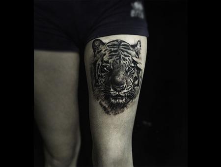 Tiger Black Grey