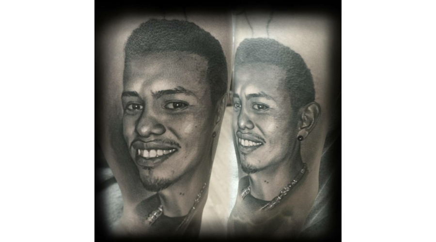 Portrait  Black And Grey  Realism Black Grey Arm
