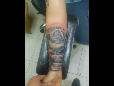 Rose Half Sleeve Color Arm