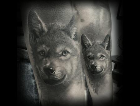 Realism  Black And Grey  Portrait  Wildlife Black Grey Forearm