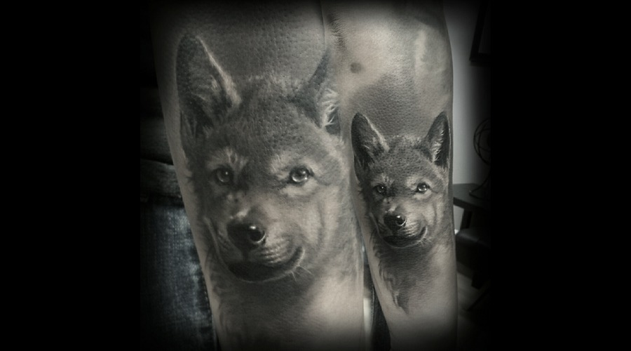 Realism  Black And Grey  Portrait  Wildlife Black Grey Forearm