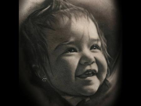 Portrait   Realism  Black And Grey  Realistic Black Grey Chest