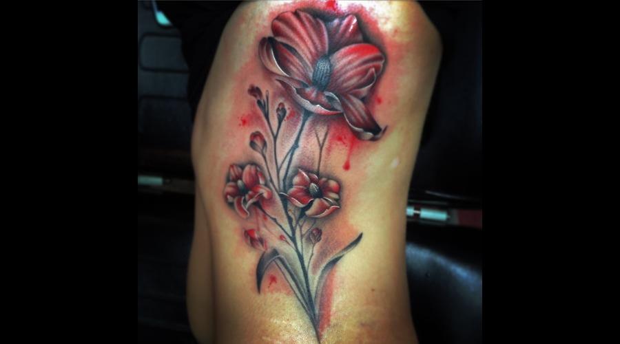 #Tattoo #Tattoos #Reno #Tattooartist #Watercolortattoo #Tattooshop #Cheatin Black Grey Ribs