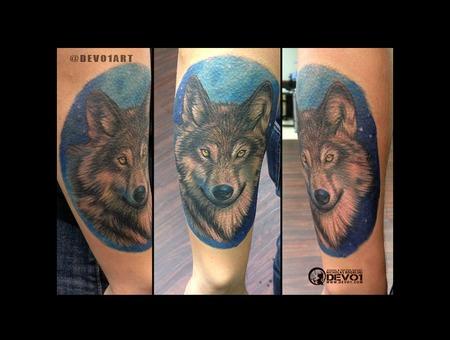 Wolf  Wolves  Color  Portrait  Custom Color Forearm