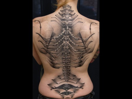 Freehand  3 D  Backpiece  Coverup Black Grey Back