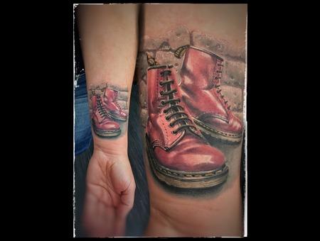 Doc Martens Boots Color Forearm