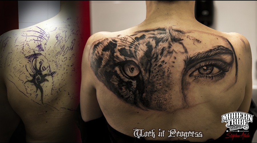 Cover Up  Work In Progress Black Grey Back