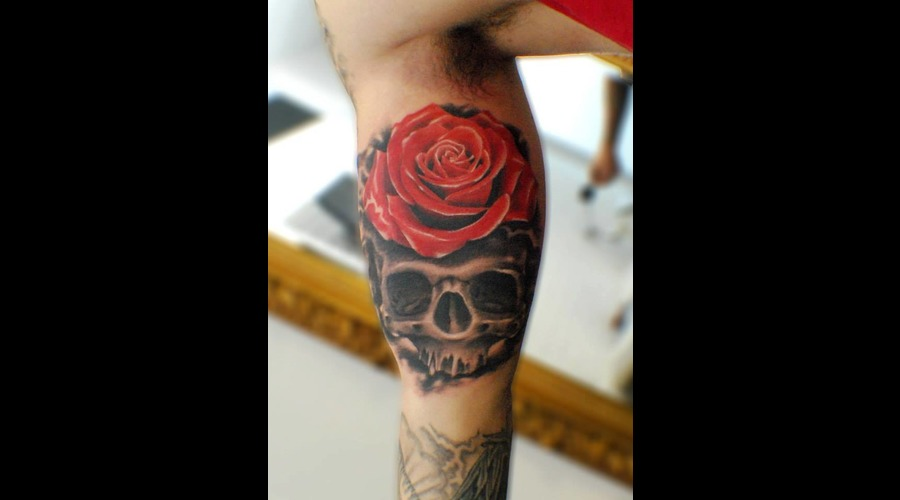 Rose  Skull Color Arm