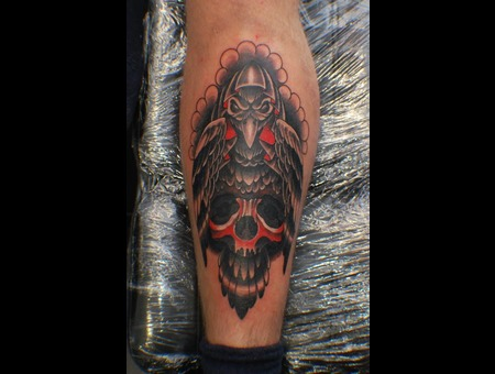 Crow  Skull Color Lower Leg