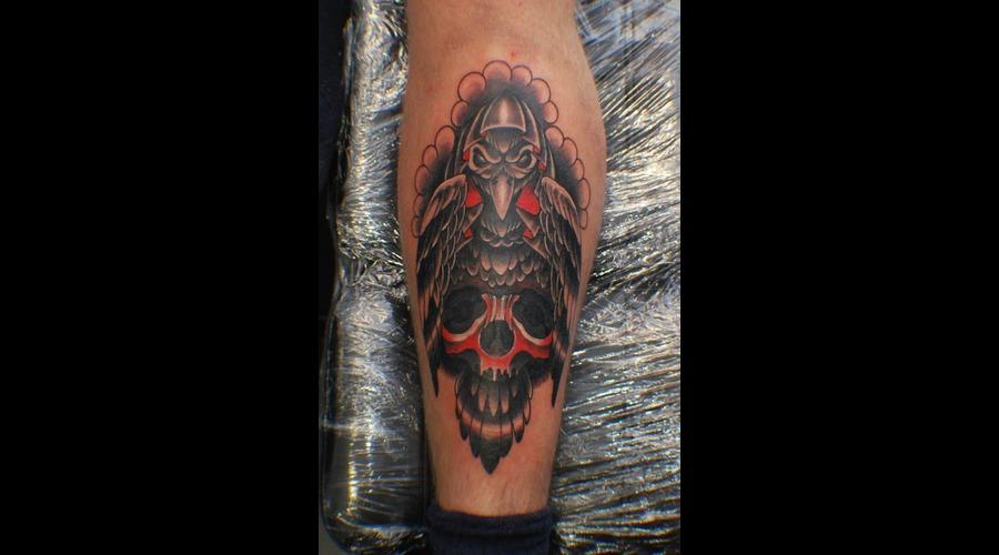 Crow  Skull Color Lower Leg