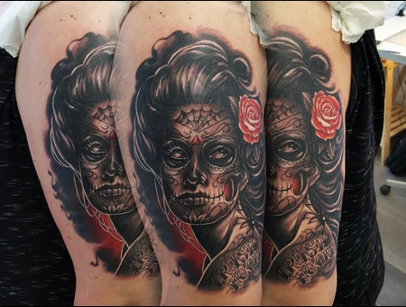 Catrina  Muerte  Spider Color Arm