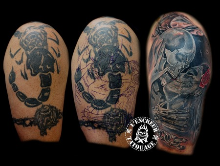 Skull  Lover  Chaine Black Grey Arm
