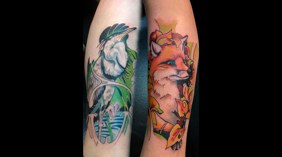 #Nature #Colortattoo #Fox Color Lower Leg