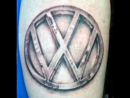 Volkswagon Logo Black Grey Forearm