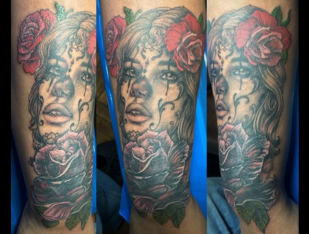 Dead Girl Color Forearm