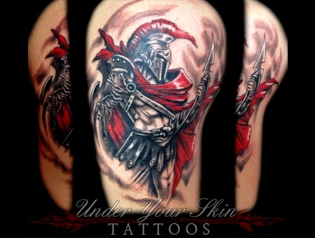Ares   God Of War Black Grey Arm