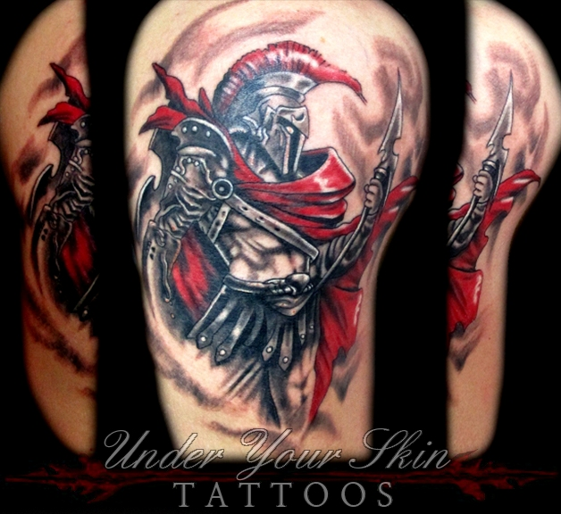 ares god of war tattoo pictures to pin on pinterest tattooskid. Black Bedroom Furniture Sets. Home Design Ideas