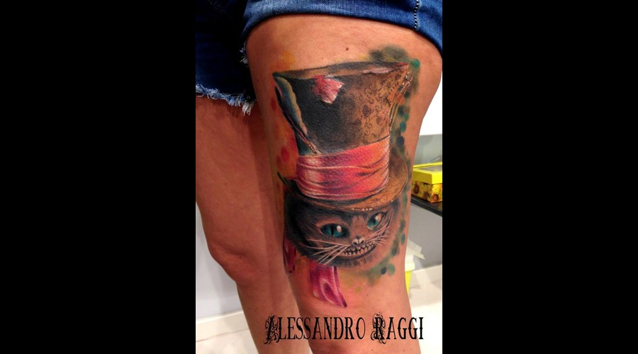 Alice In Wonderland Realistic Vanish Cat Color Thigh