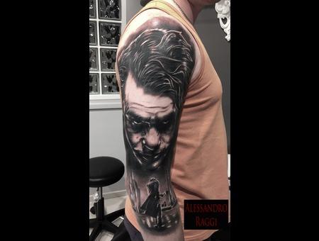 Jocker Heath Ledger Realistic Black Grey Arm
