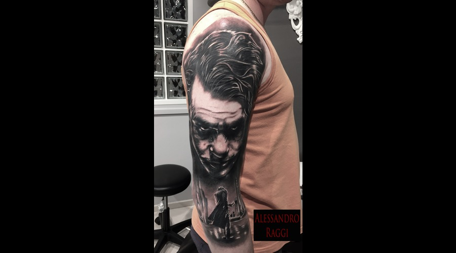 Jocker Heath Ledger Realistic Black Grey Arm