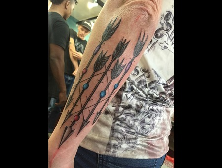 Arrows  Beads  Feathers Forearm